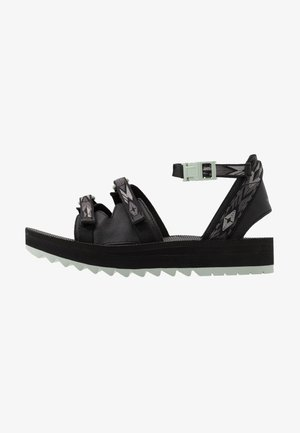 MIDFORM CERES WOMENS - Walking sandals - double diamond black