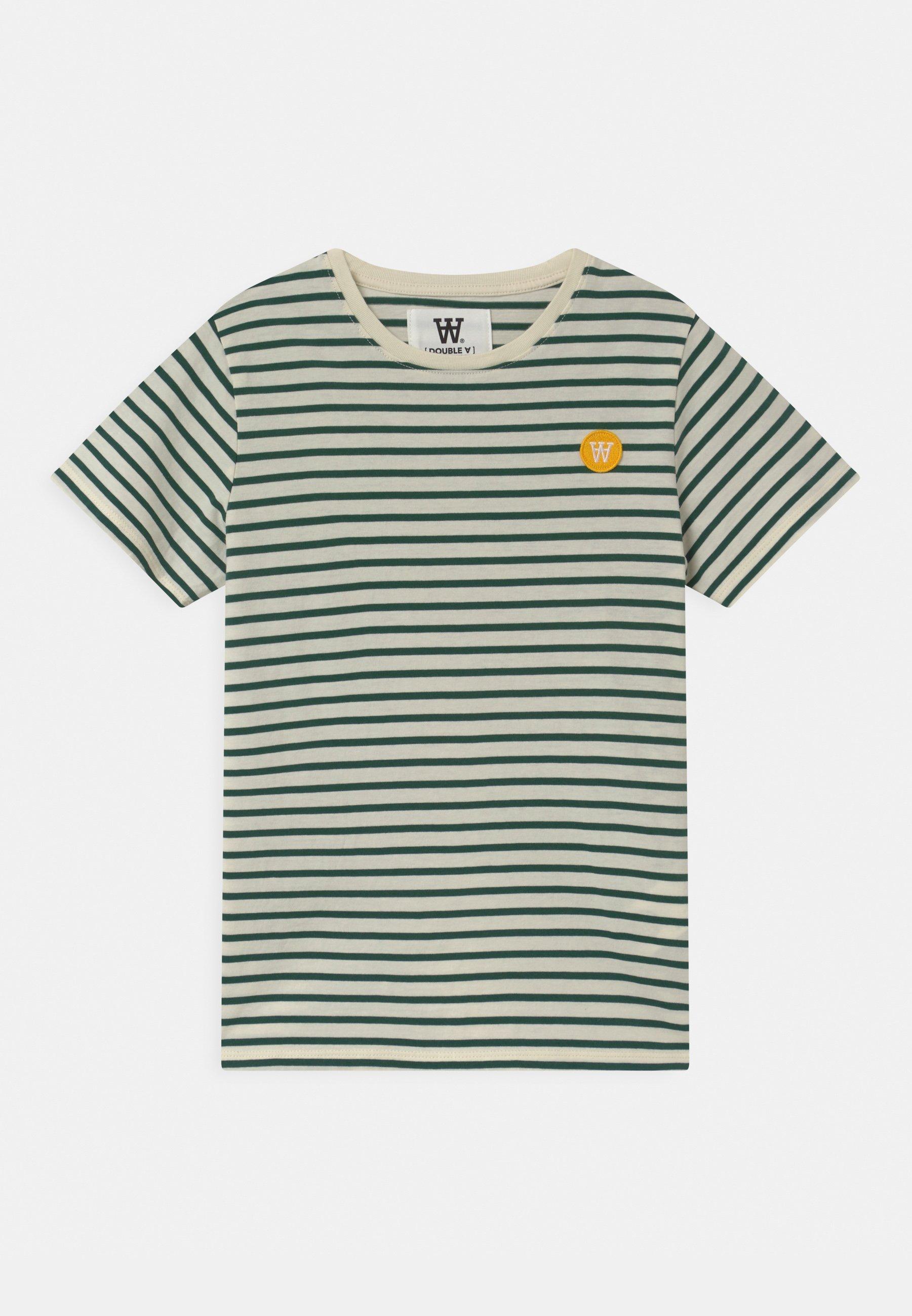 Kids OLA UNISEX - Print T-shirt - off-white/faded green