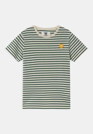 OLA UNISEX - T-shirts print - off-white/faded green