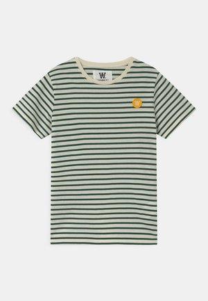 OLA UNISEX - Print T-shirt - off-white/faded green
