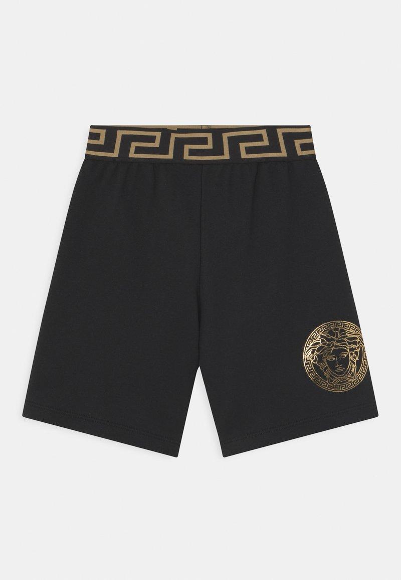 Versace - MEDUSA WITH GREEK - Kraťasy - black/gold