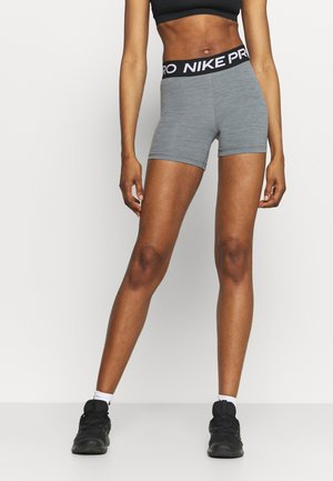 SHORT - Leggings - smoke grey heather/black