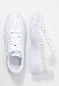 Puma - CALI - Trainers - white/metallic silver - 3