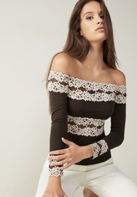 Intimissimi - PRETTY FLOWERS - Long sleeved top - braun - coffee brown - 3