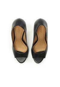Kazar - TERRY - Peeptoe heels - black - 3