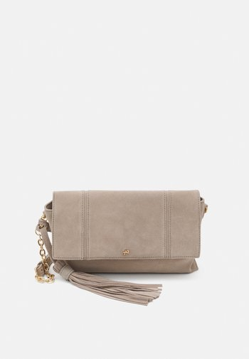 LEATHER - Clutch - taupe
