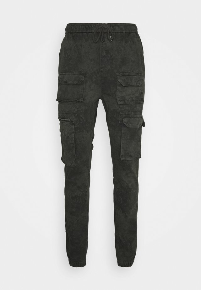 ACID WASH PANTS ONLY SIZE - Cargo trousers - green