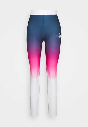 FADE TAPE - Leggings - Trousers - navy/pink/white