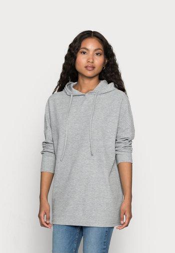 PCRIBBI BLOUSE - Sweat à capuche - light grey