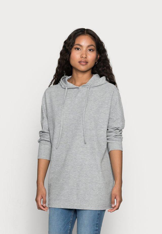 PCRIBBI BLOUSE - Hoodie - light grey