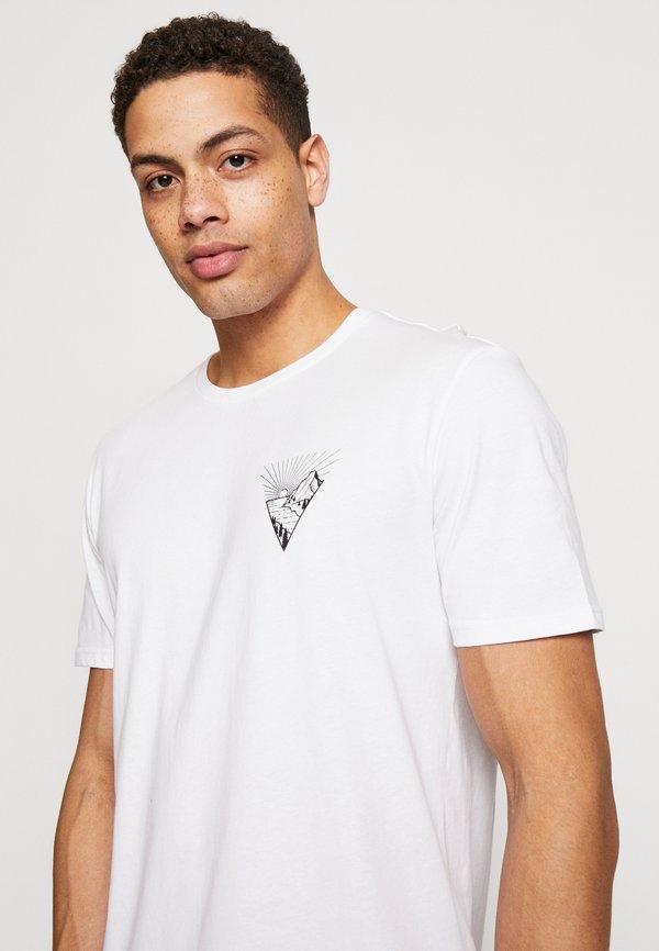 Pier One T-shirt z nadrukiem - white/biały Odzież Męska IENN