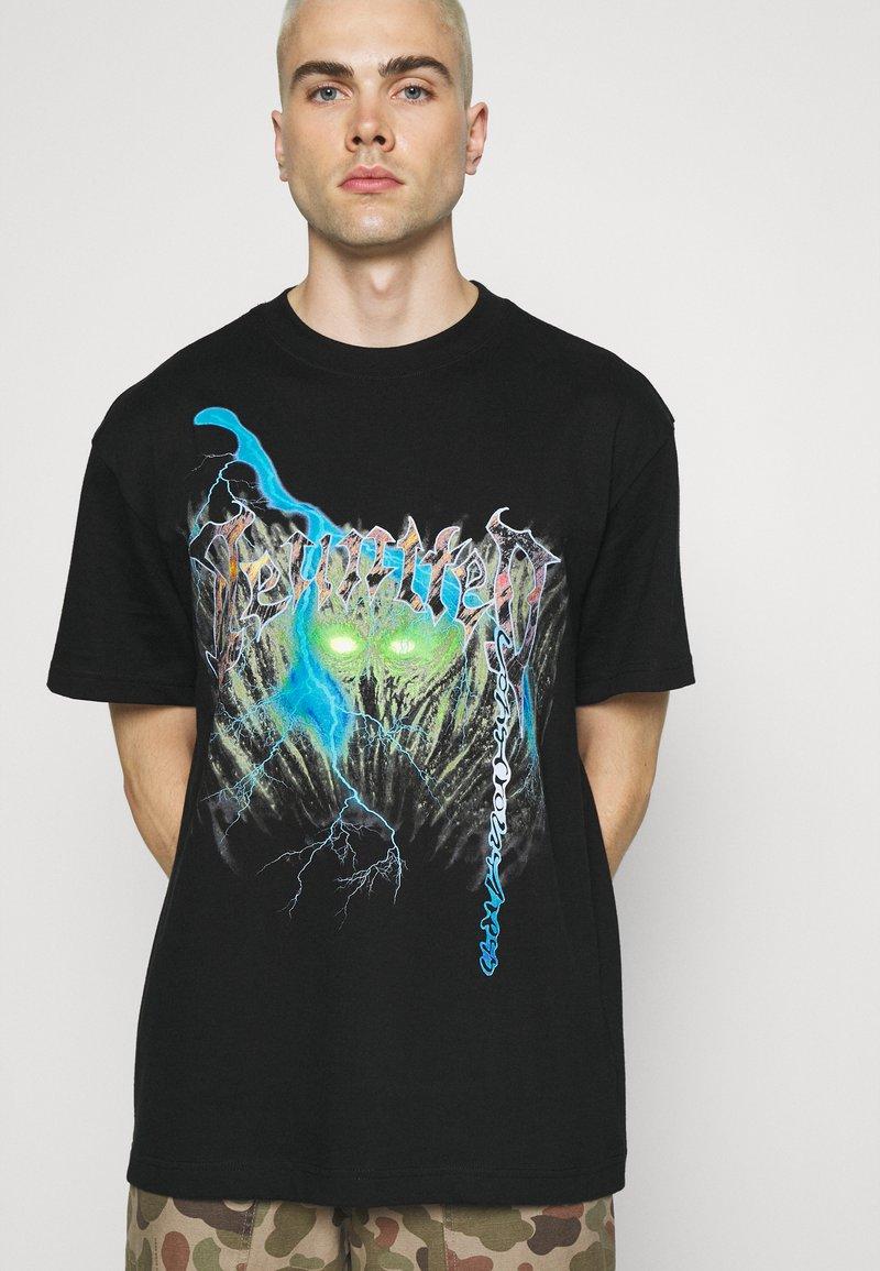 Weekday - OVERSIZED UNISEX  - T-shirt med print - black