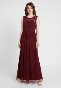 Vila - VILYNNEA MAXI DRESS - Suknia balowa - tawny port - 0