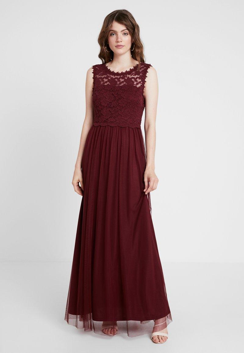 Vila - VILYNNEA MAXI DRESS - Suknia balowa - tawny port