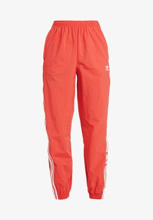 LOCK UP ADICOLOR NYLON TRACK PANTS - Tracksuit bottoms - trace scarlet/white