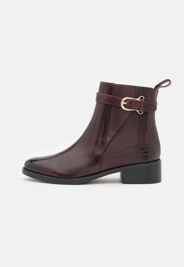 ELAINE  - Kotníkové boty - mulberry/burgundy/tan