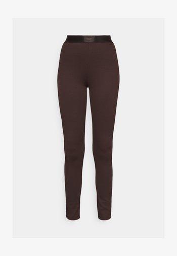 CONNIE - Leggings - Trousers - black coffee