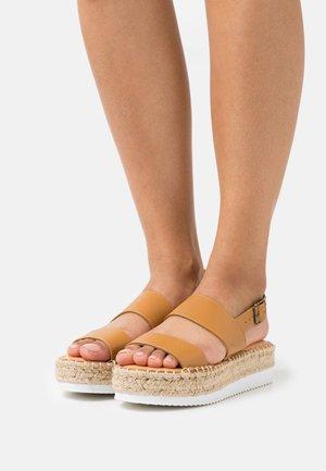 BOARDWALK - Platform sandals - tan paris