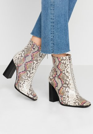 AUBURN - High heeled ankle boots - multicolor
