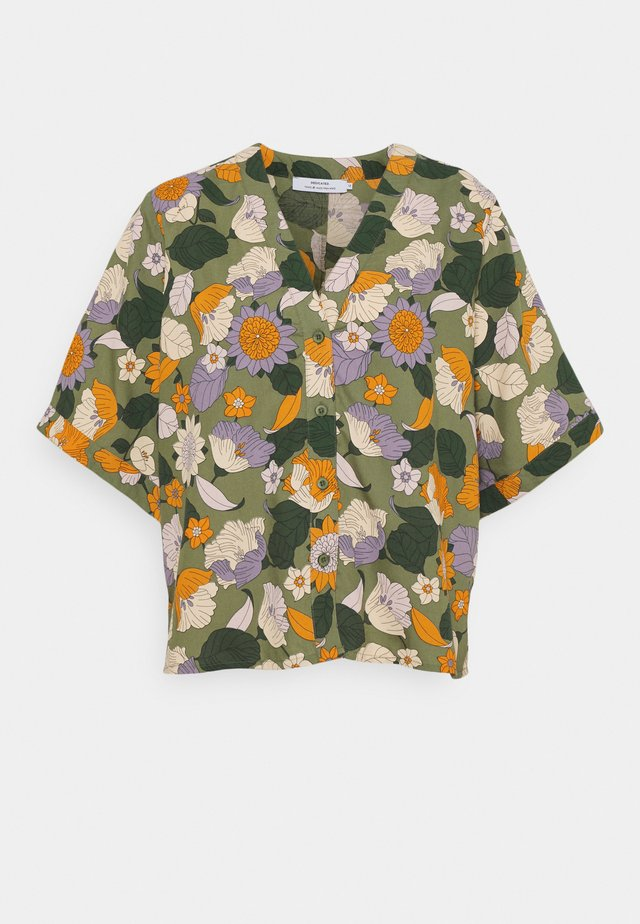 ODENSE SEVENTIES FLORAL - Blouse - green