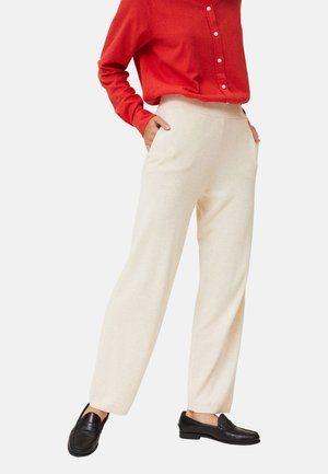 Trousers - light beige melange