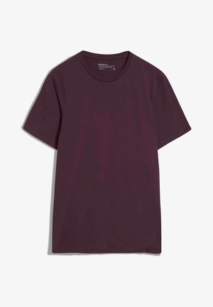 JAAMES - Basic T-shirt - dark aubergine