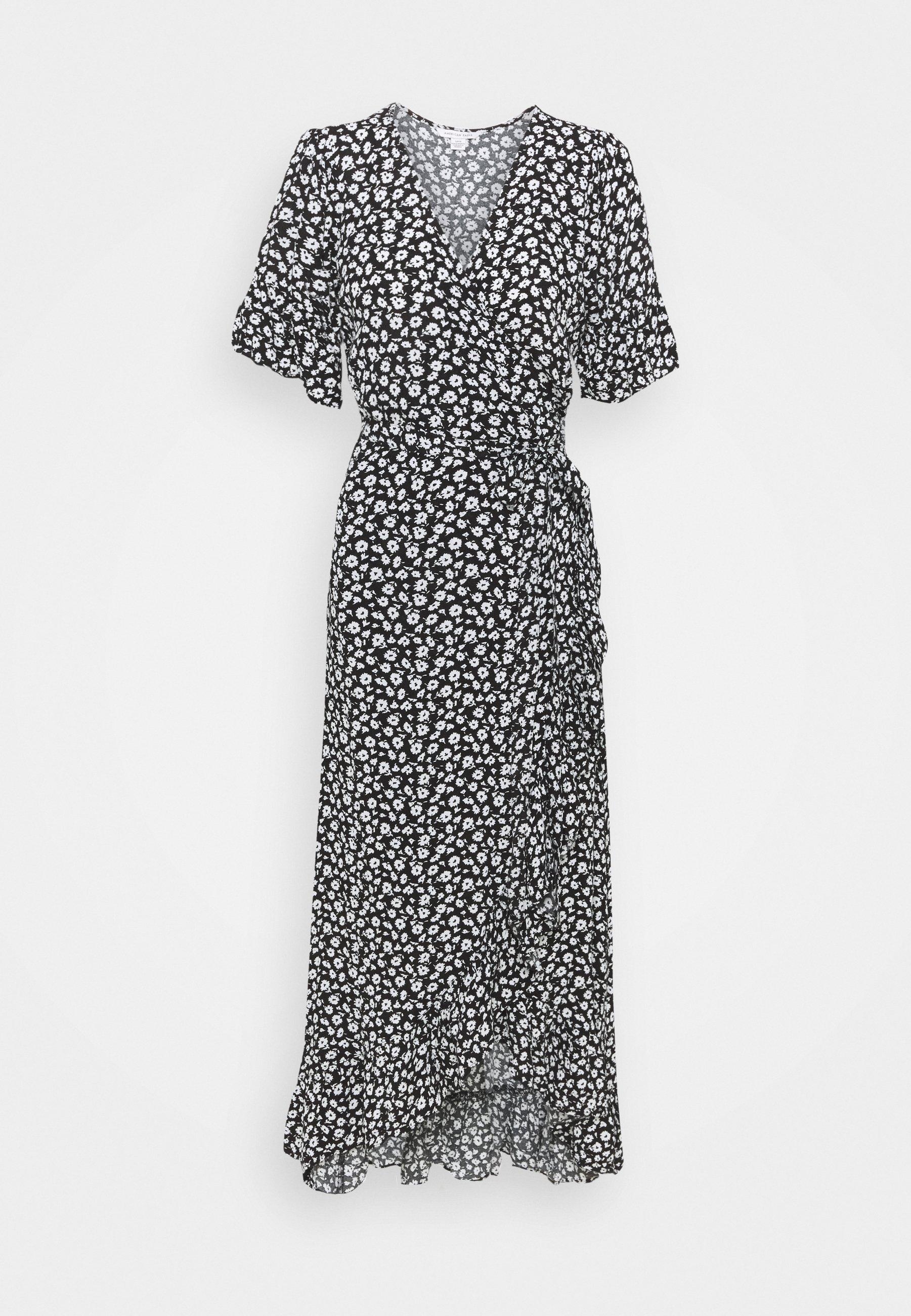 Women RUFFLE WRAP DRESS - Maxi dress