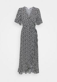 American Eagle - RUFFLE WRAP DRESS - Maxi dress - black - 0