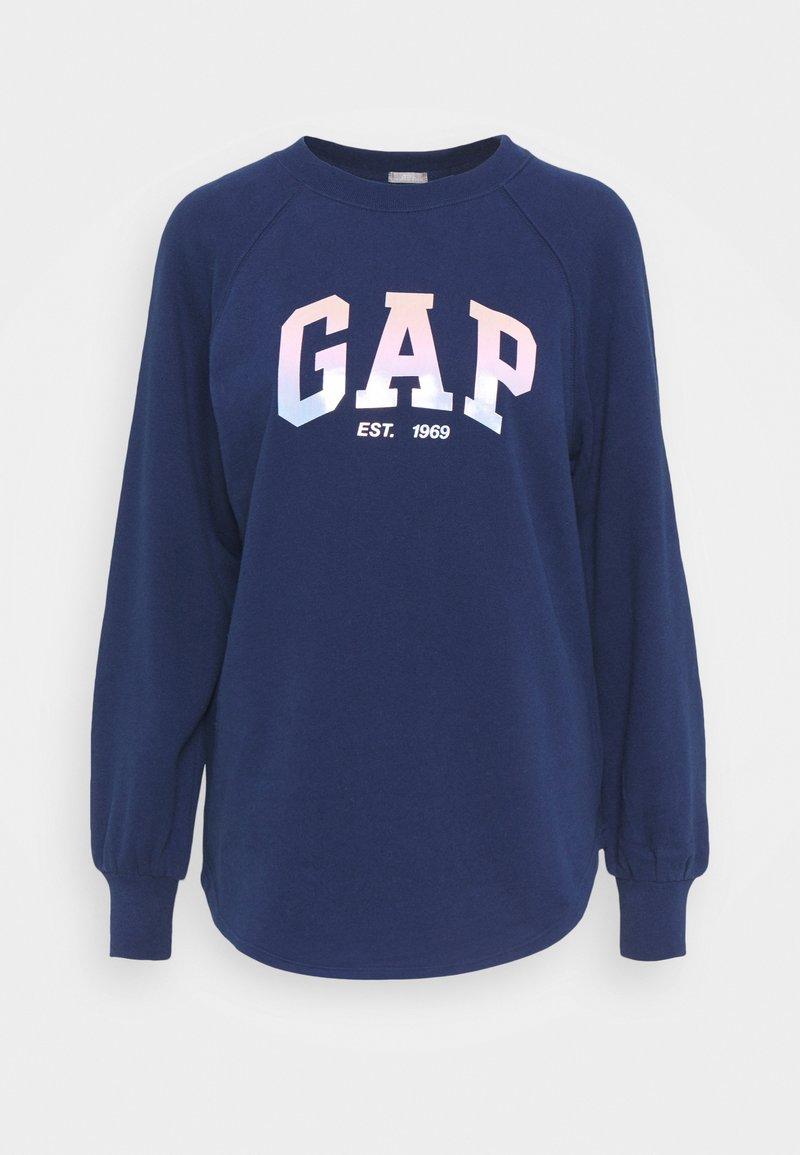 GAP - SHINE TUNIC - Sweatshirt - elysian blue