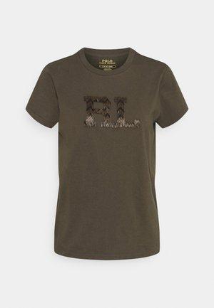 T-shirt z nadrukiem - expedition olive