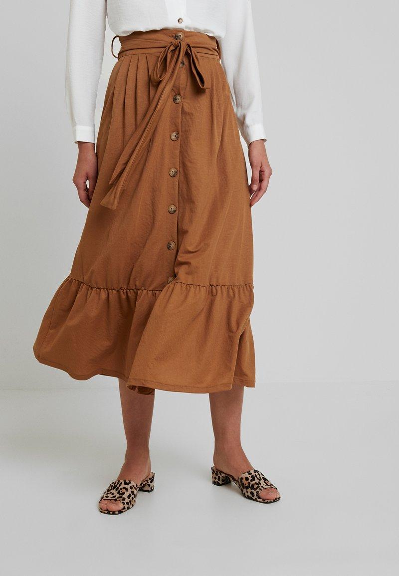 mint&berry - A-line skirt - brown