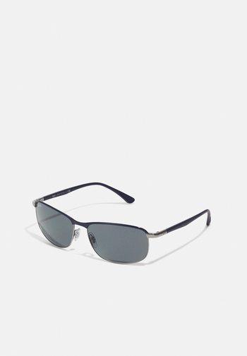 Sunglasses - blu on gunmetal