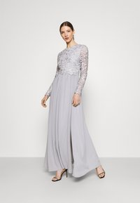 Nly by Nelly - LACE TRIM GOWN - Occasion wear - pearl grey - 1