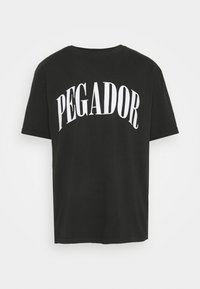 Pegador - CALI TEE UNISEX - Triko spotiskem - washed black - 0