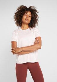 Nike Performance - MILER  - Print T-shirt - echo pink/reflective silver - 0