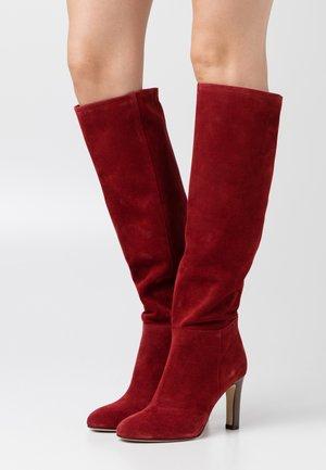 AGNA - High heeled boots - rubis