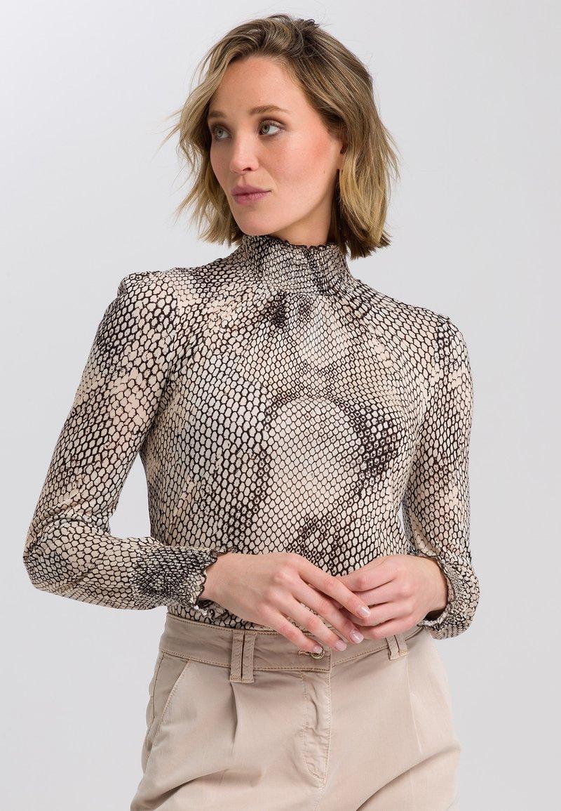 Marc Aurel - Button-down blouse - light sand varied