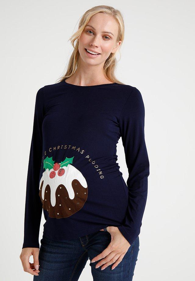 CHRISTMAS SLOGAN - T-shirt à manches longues - navy