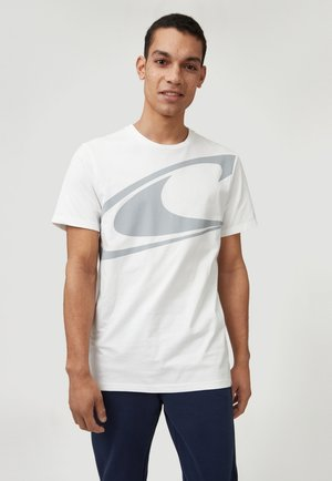 Print T-shirt - powder white
