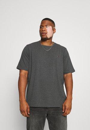 STRETCH SLIM FIT TEE - Basic T-shirt - black heather