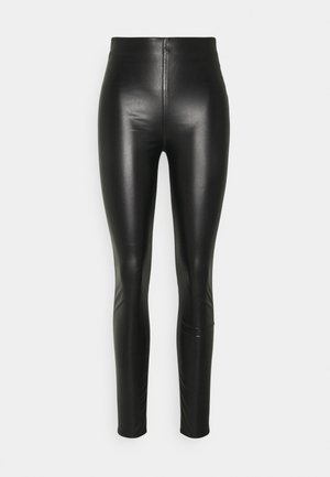 NINA FAUX PULL ON - Leggings - Trousers - black