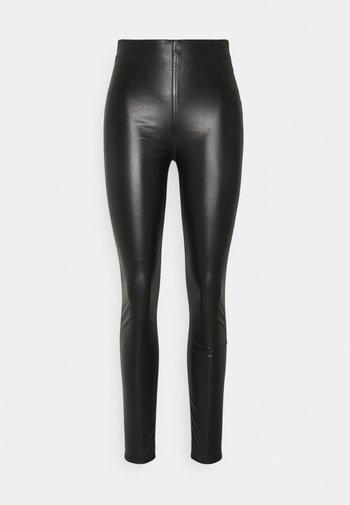 NINA FAUX PULL ON - Leggings - Trousers - black