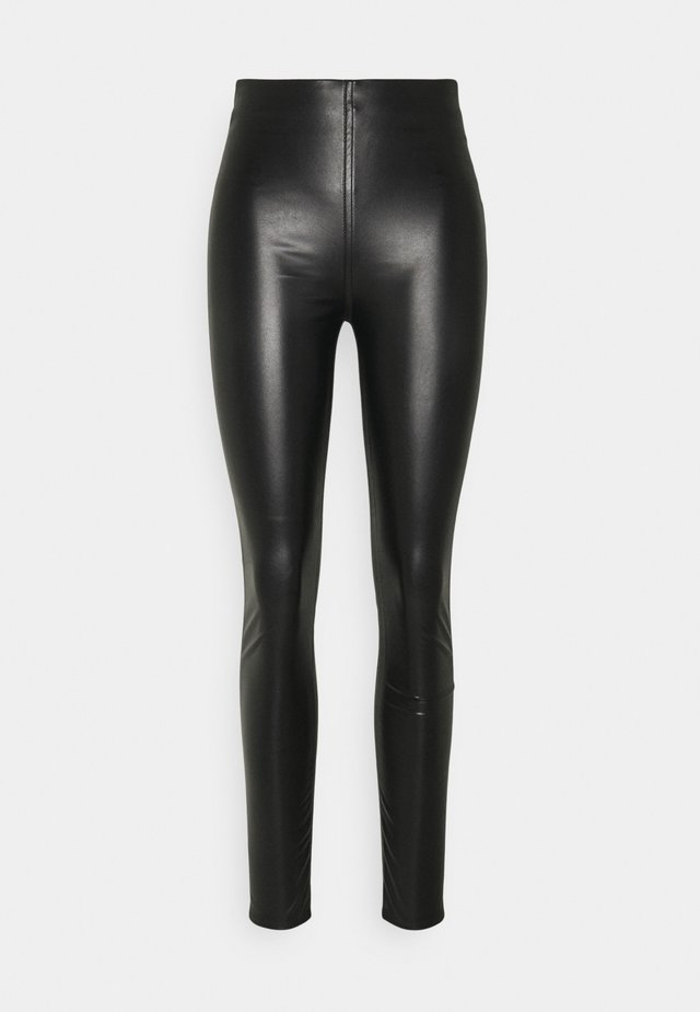 NINA FAUX PULL ON - Leggings - black