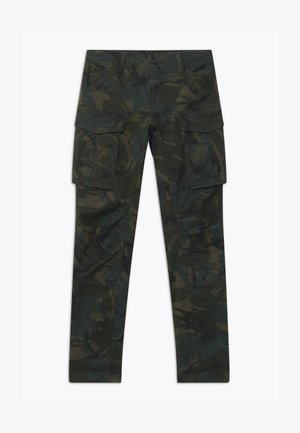ROVIC - Cargo trousers - black/khaki