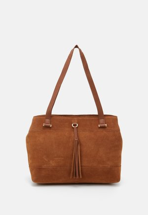 LEATHER - Shoppingveske - cognac