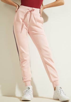 SEITENSTREIFEN - Tracksuit bottoms - rose