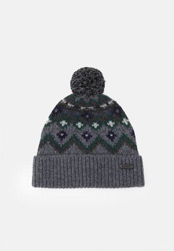 FAIRISLE HAT UNISEX - Gorro - grey/navy/green