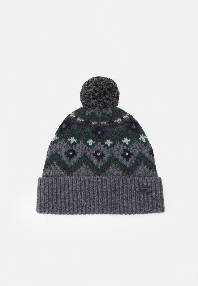 FAIRISLE HAT UNISEX - Čepice - grey/navy/green