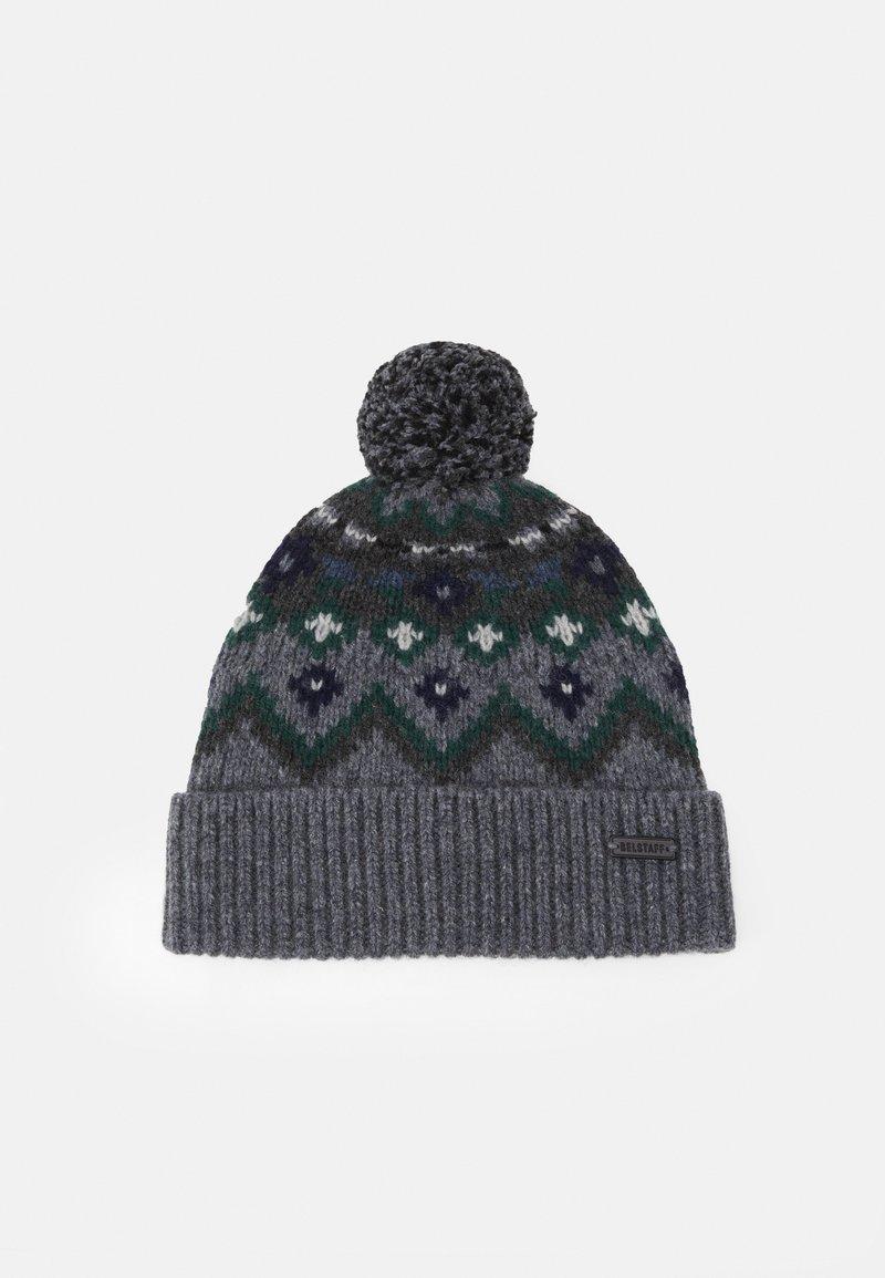 Belstaff - FAIRISLE HAT UNISEX - Čepice - grey/navy/green