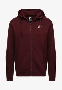 Nike Sportswear - CLUB FULL ZIP HOODIE - Zip-up hoodie - dark red - 3